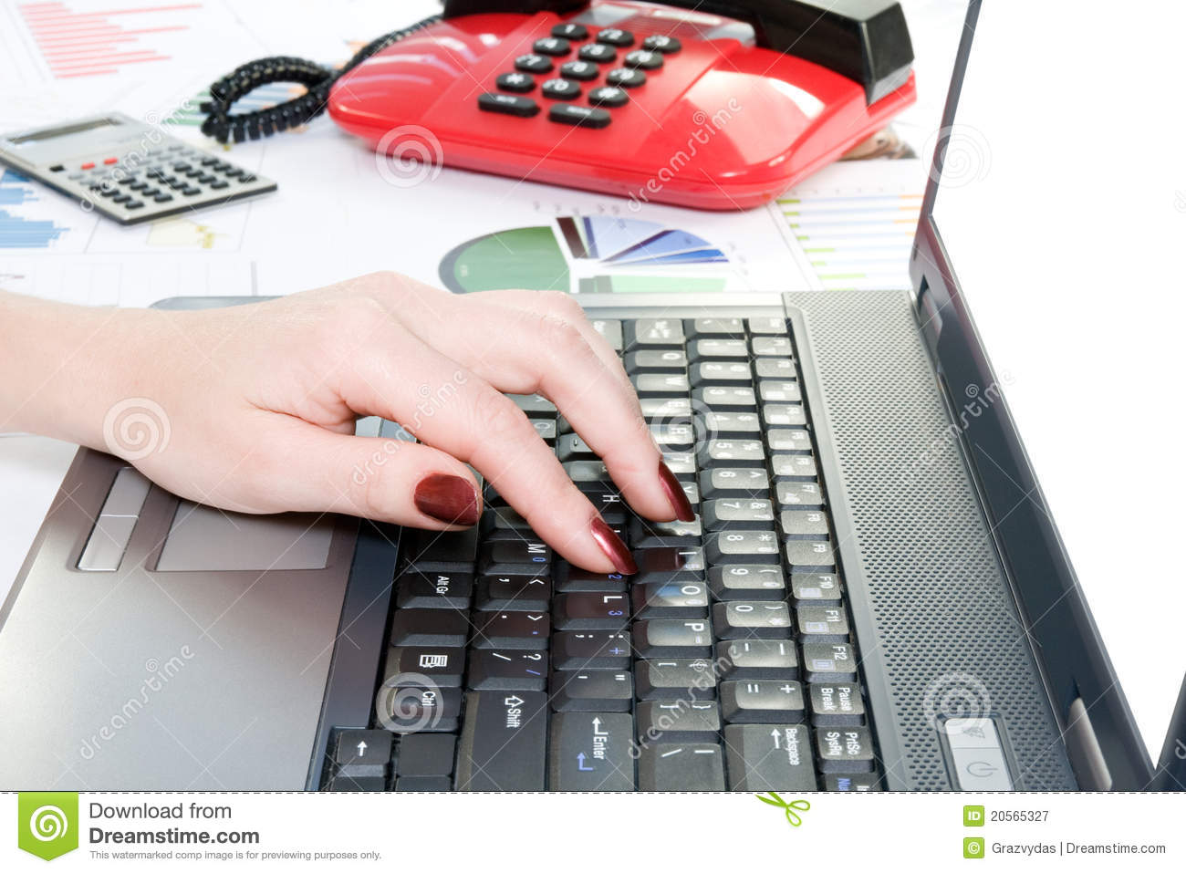 hand typing on computer keyboard royalty free stock photography image 20565327. Black Bedroom Furniture Sets. Home Design Ideas