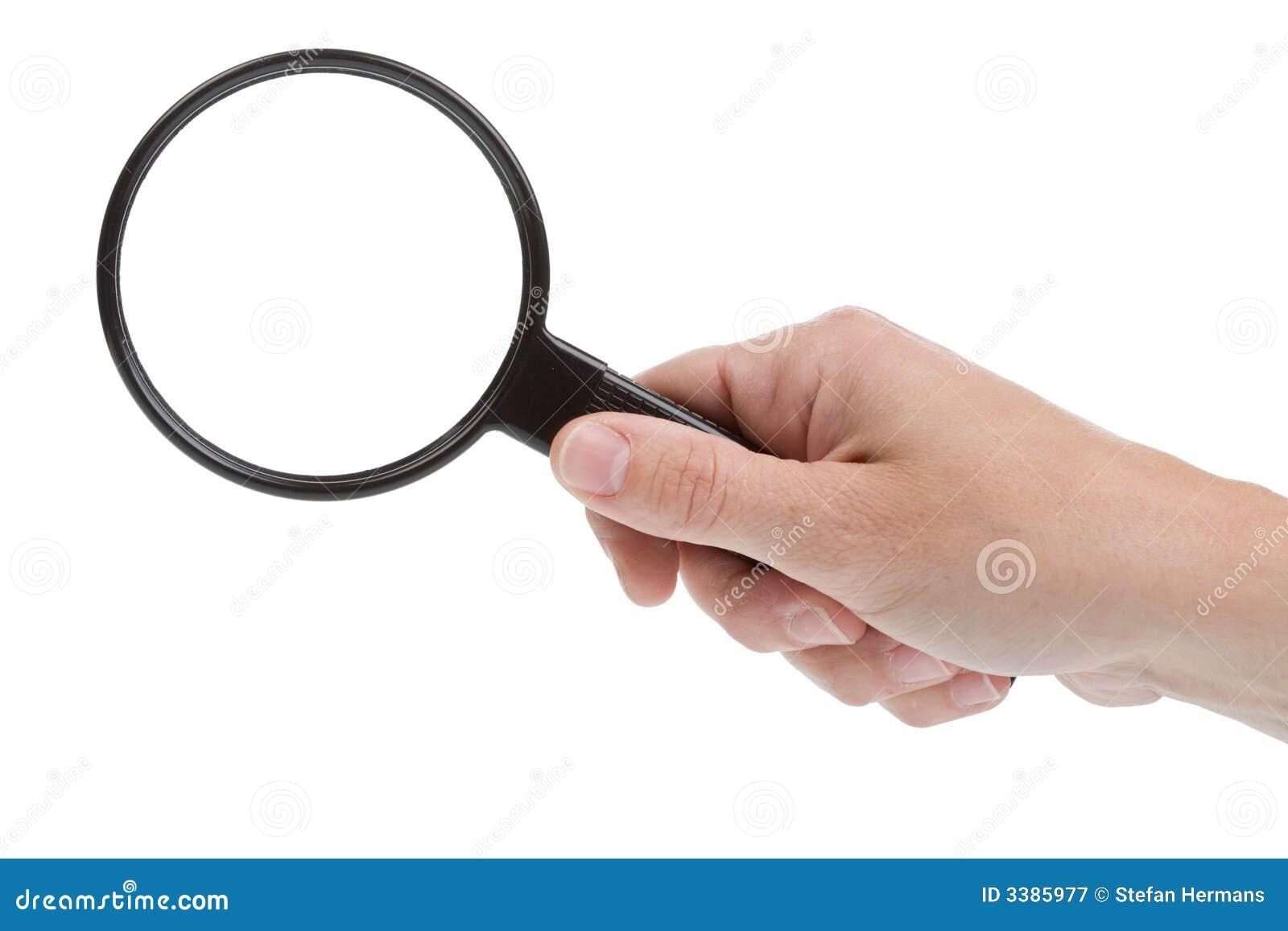 Hand und lupe stockbild bild von discover magnify glas 3385977 - Specchio con lente di ingrandimento ...