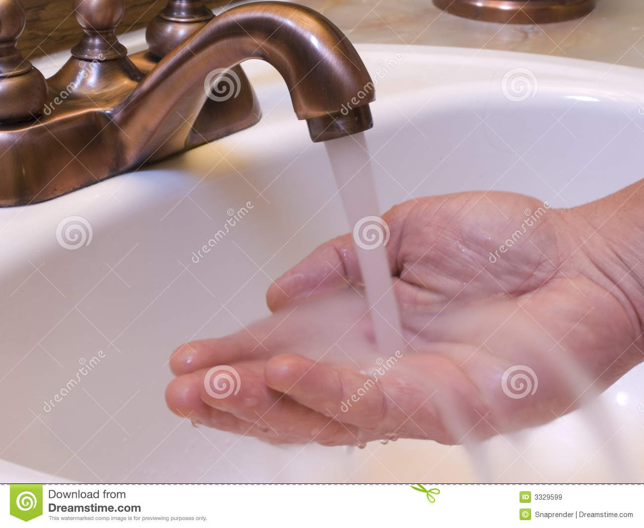 Hand Under Water Stock Image Image Of Wash Sink Cleanly