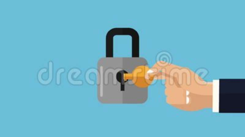 Padlock And Security Hd Animation Stock Footage Video Of Concept