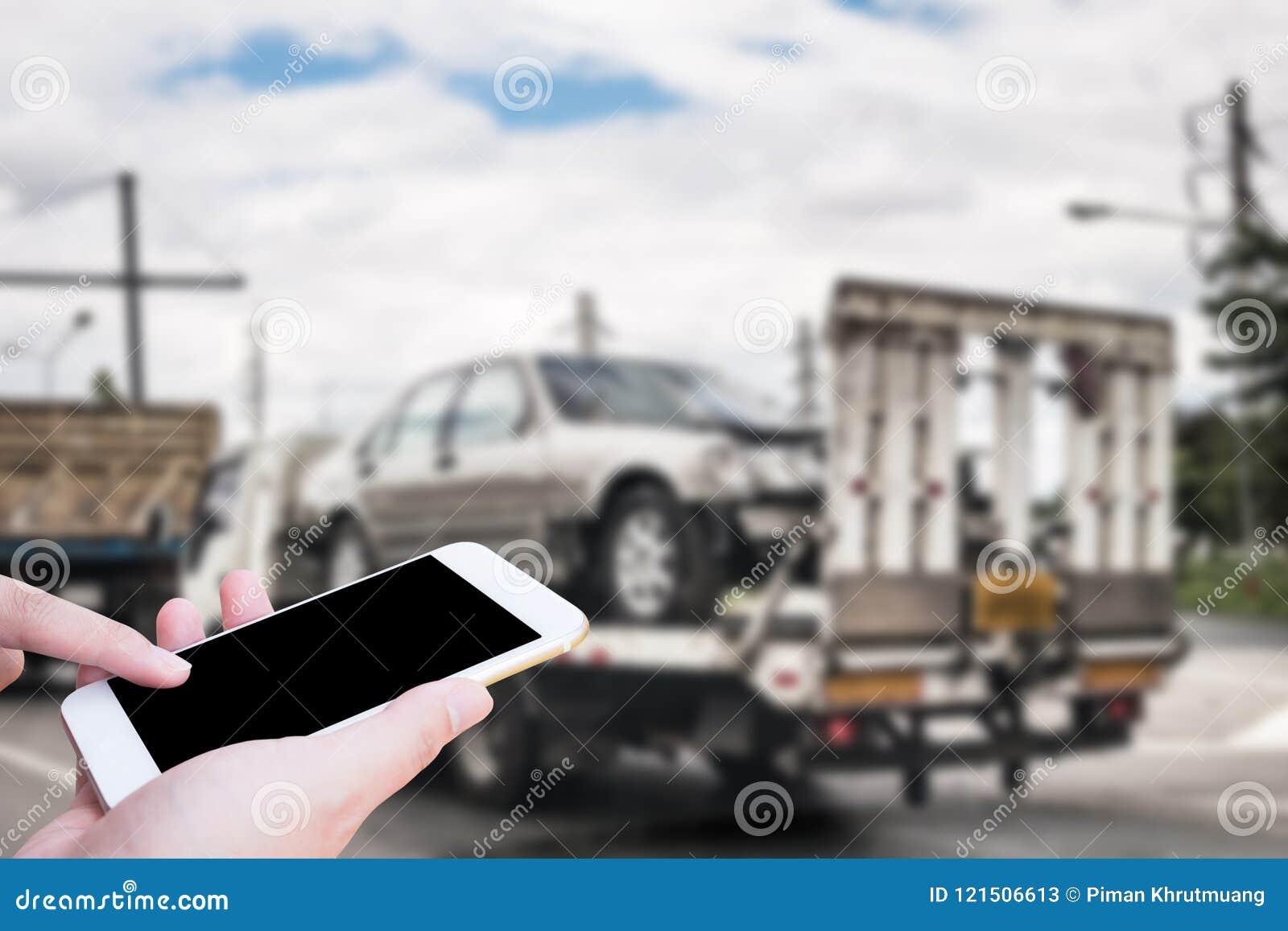 Emergency Roadside Service >> Hand Using Mobile Smartphone For Emergency Roadside Service