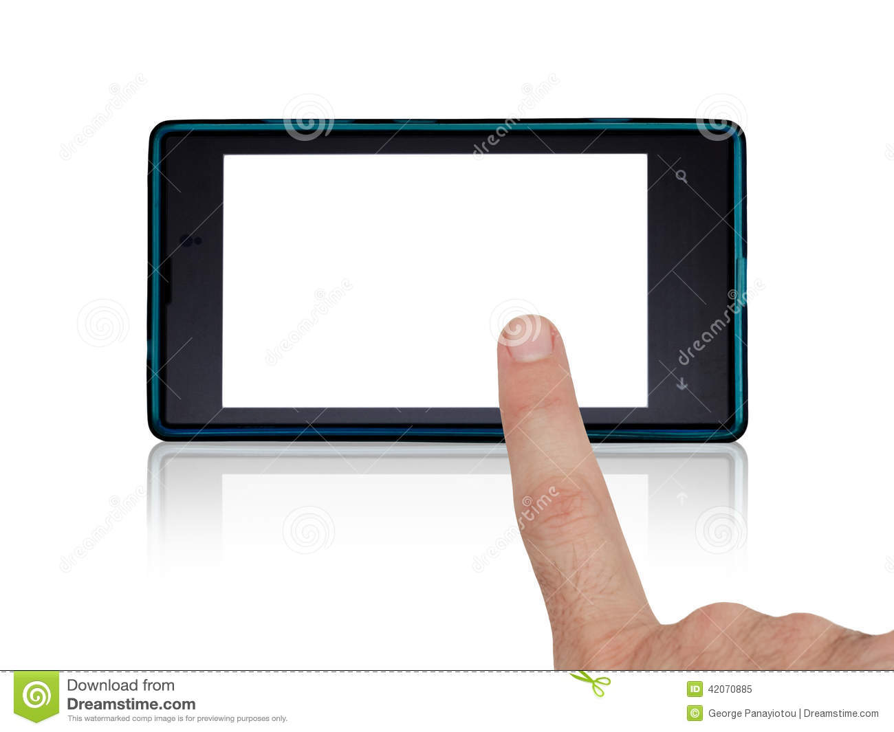 Hand using mobile touch screen stock photo image 42070885 for Telephone portable a touches