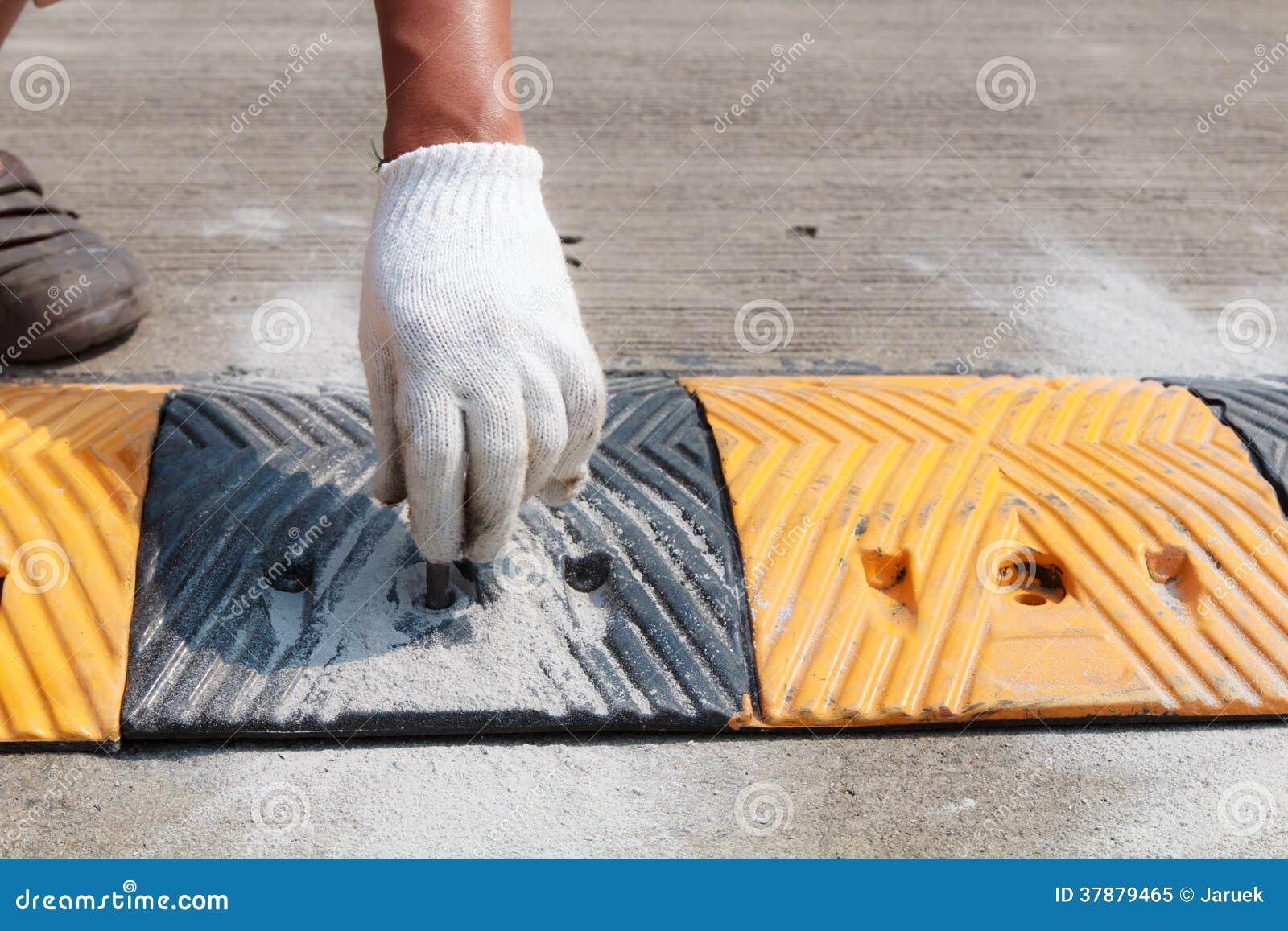 Hand van bouwvakker