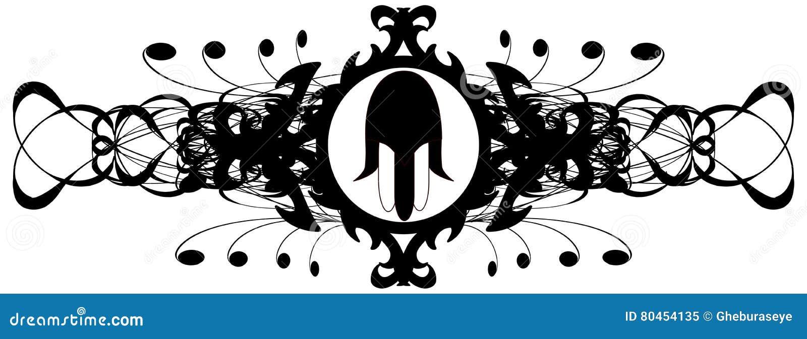 Hand von Fatima auf eleganter Dekoration