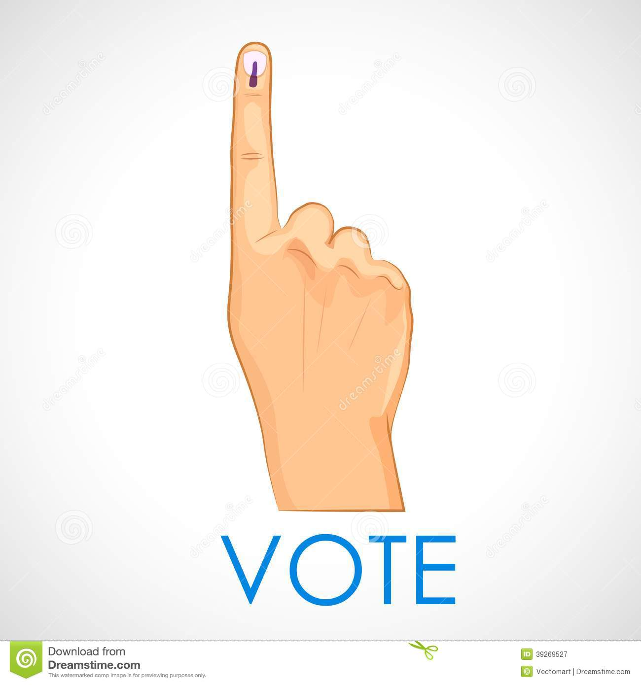 Hand With Voting Sign Of India Stock Vector Illustration Of