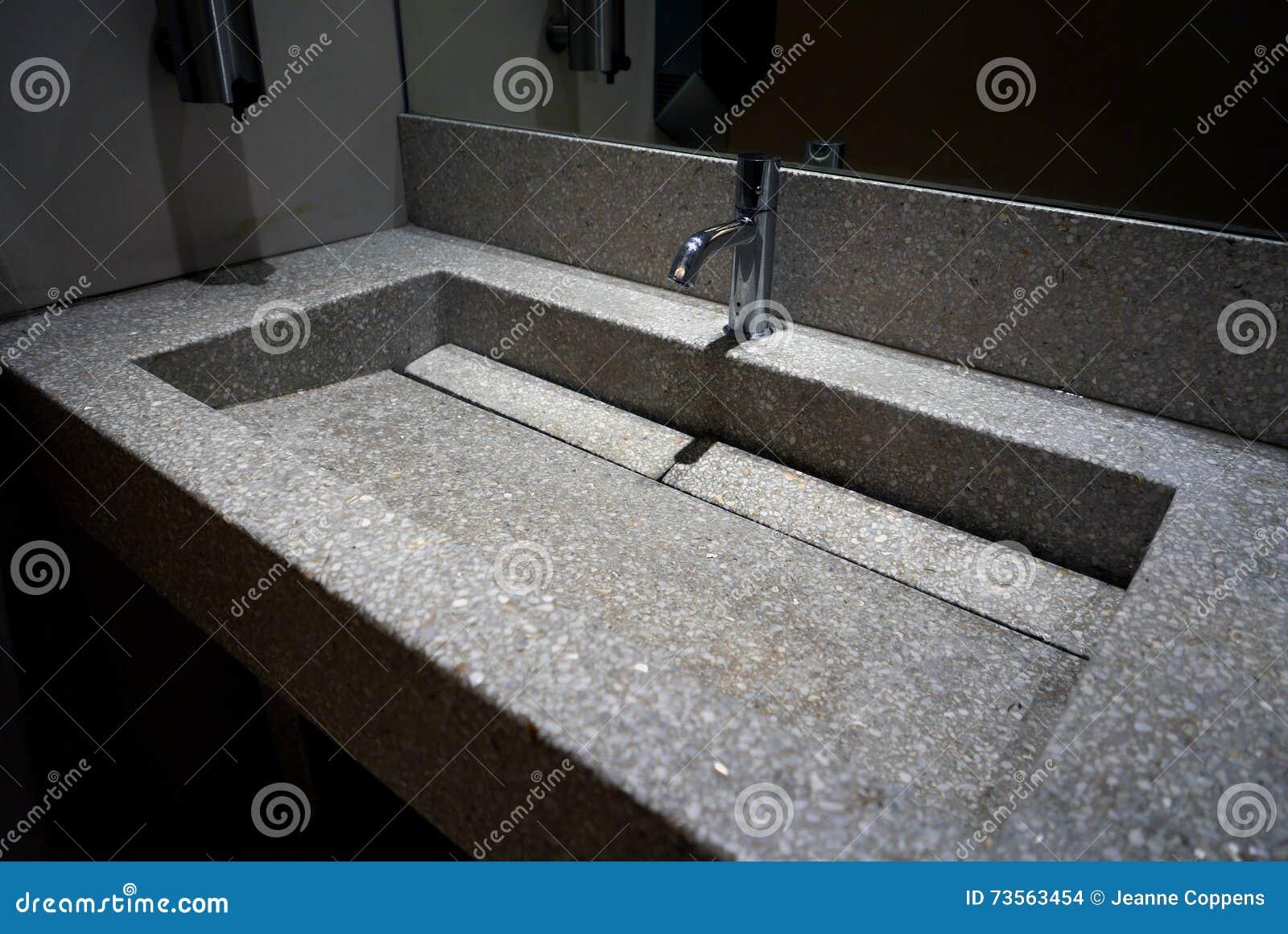 Hand Wash Basin Granit Worktop Stock Photo Image 73563454