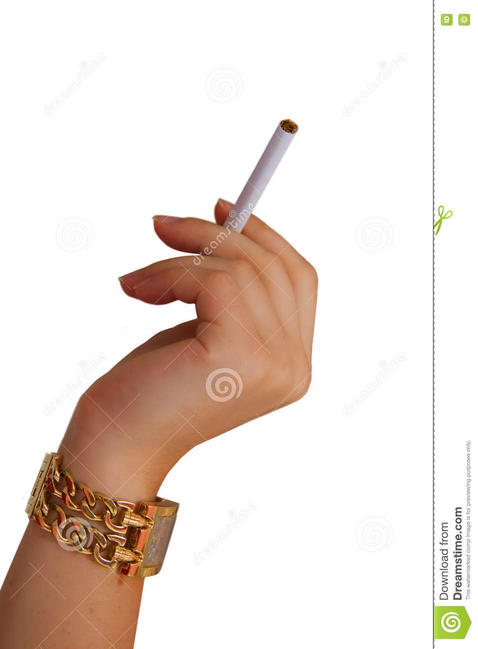 Hand Watch And A Cigarette Royalty Free Stock Photography