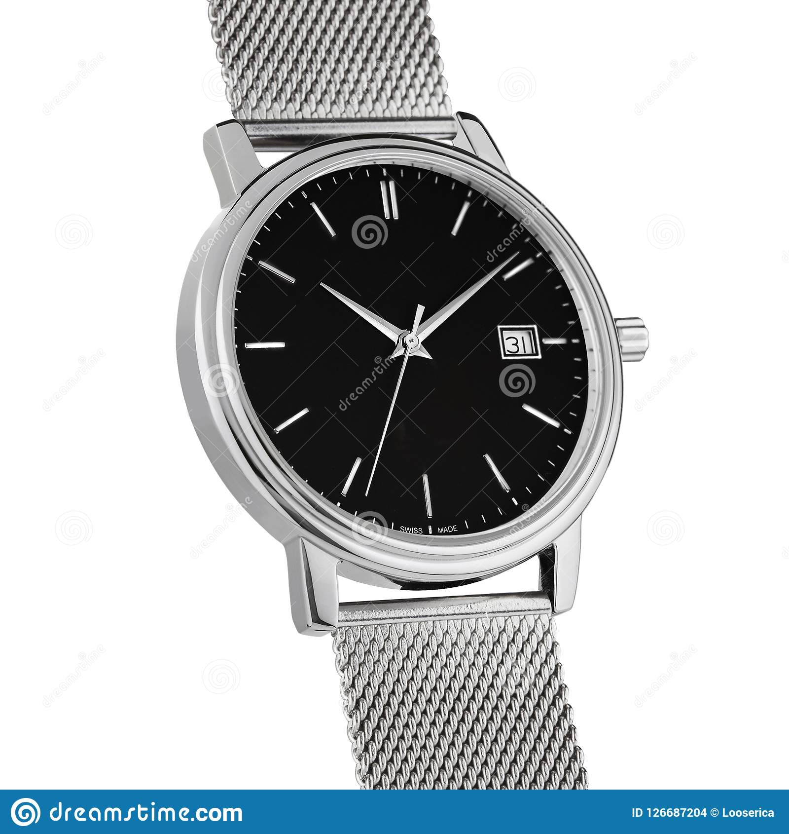 Hand watch on a white background