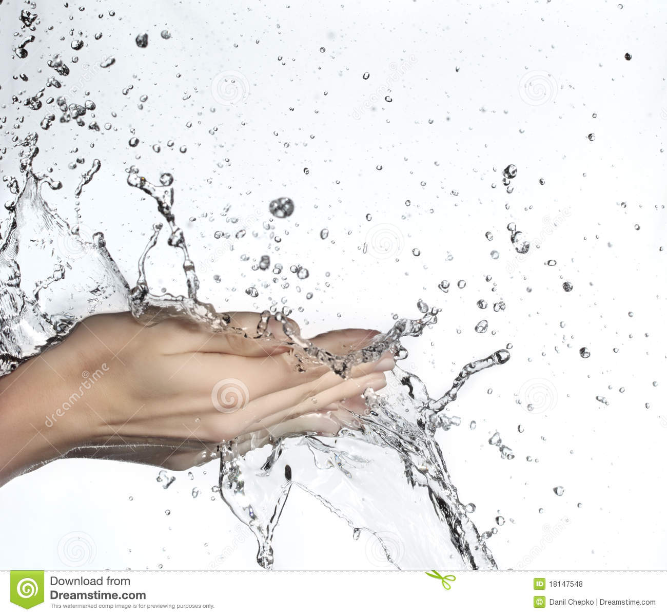 Hand In Water Splash Royalty Free Stock Photos - Image: 18147548 Water In Hand