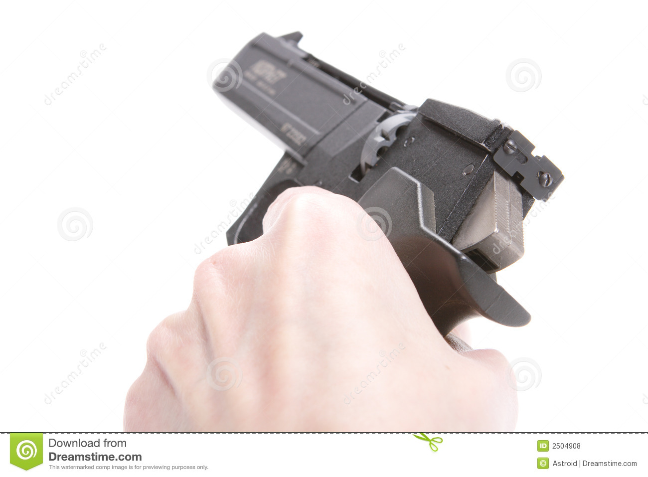 Hand With Weapon Royalty Free Stock Photos - Image: 2504908