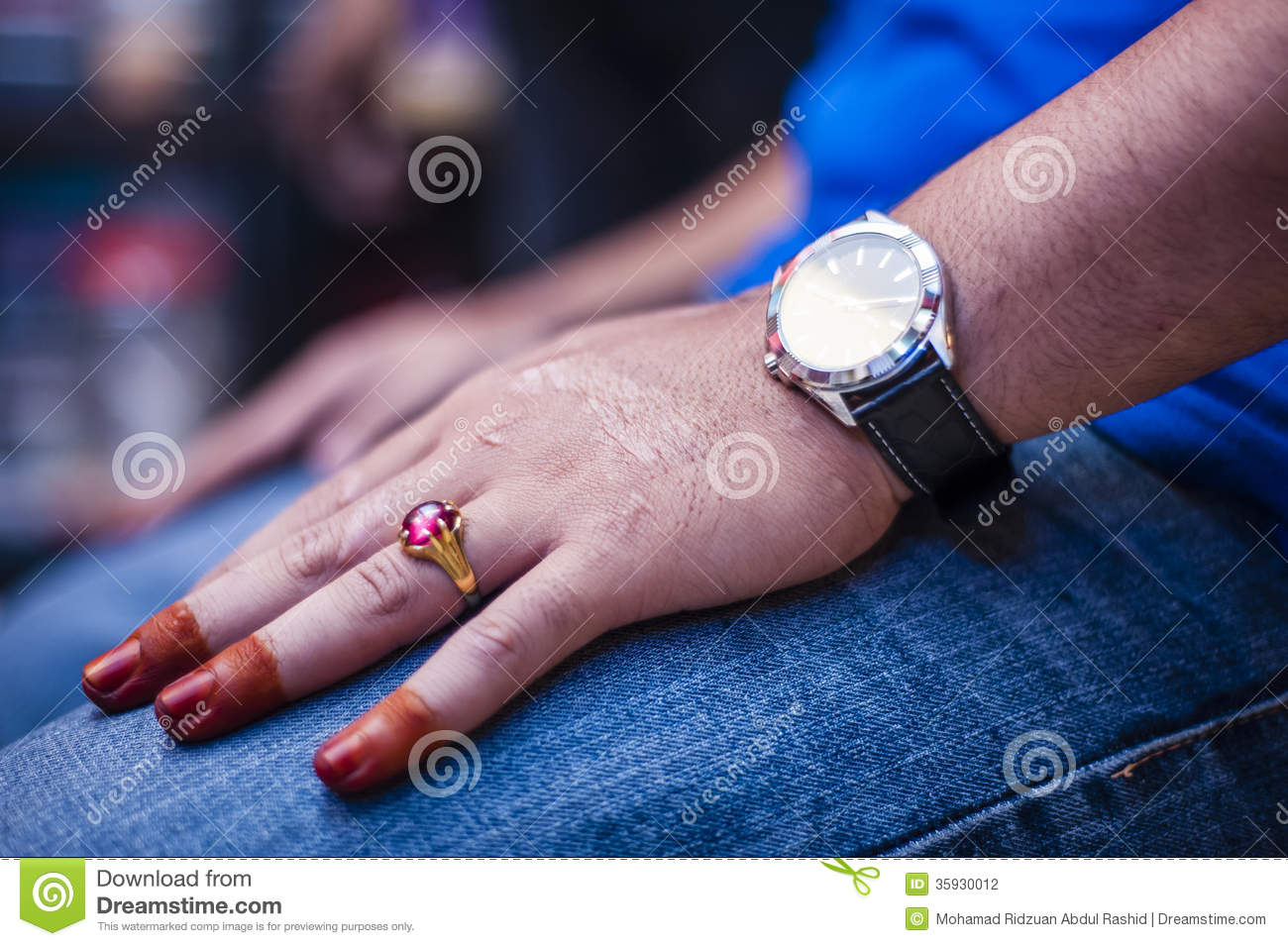 Hand wearing Henna stock photo. Image of people, abstract - 35930012