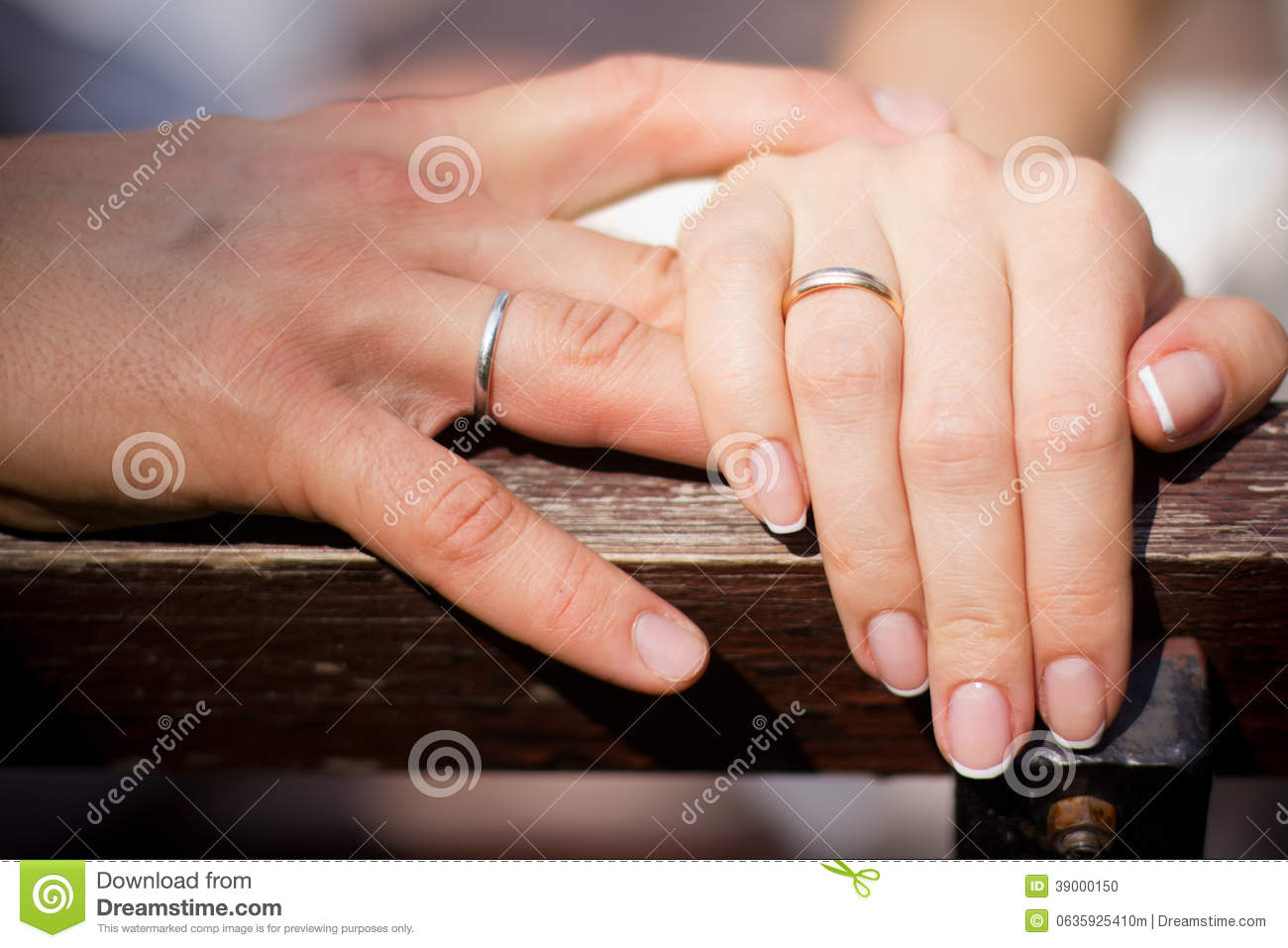 Hand with wedding rings stock photo Image of female 39000150
