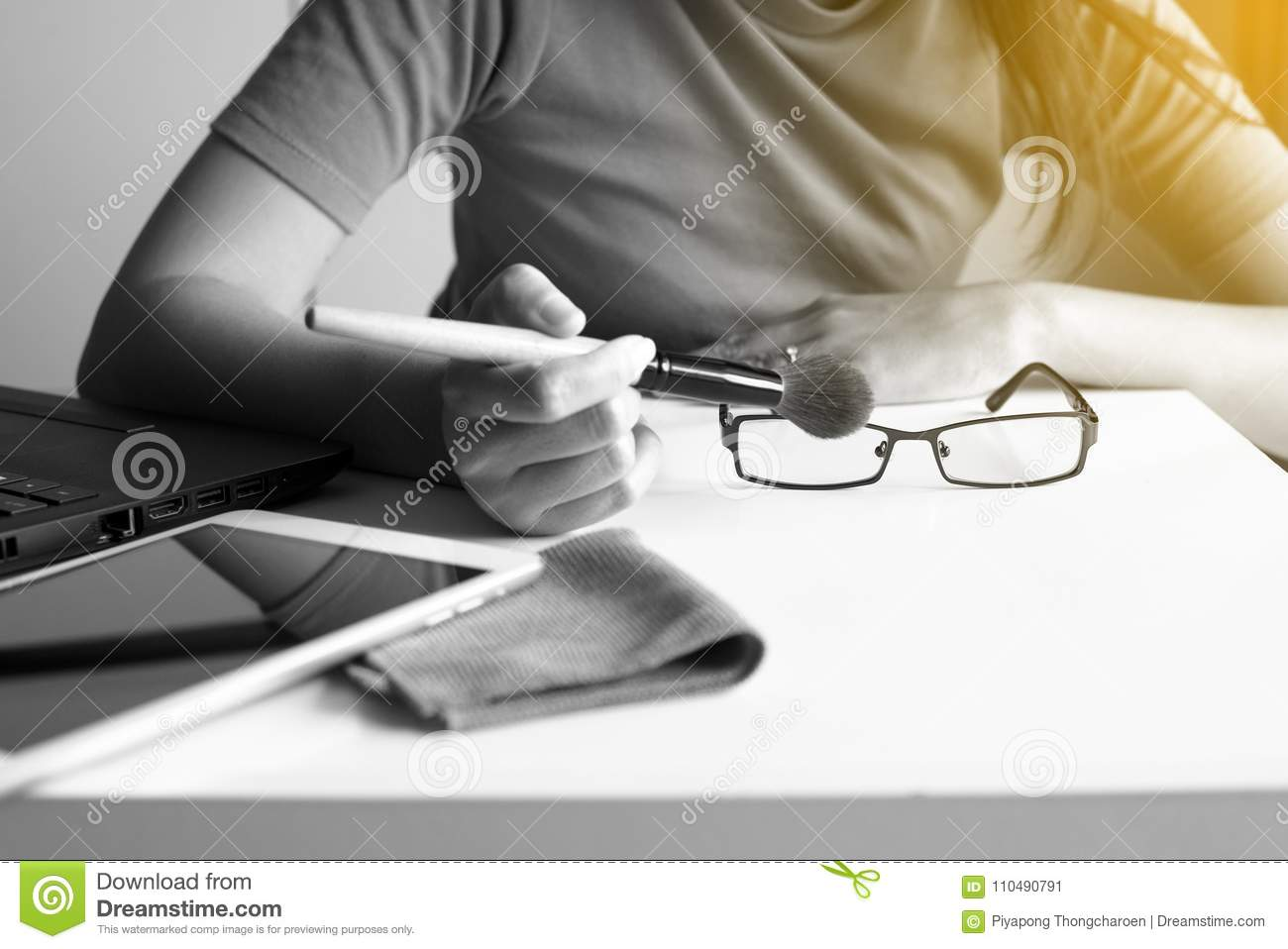 d55294f215 Hand Woman Cleaning Her Glasses With Cloth