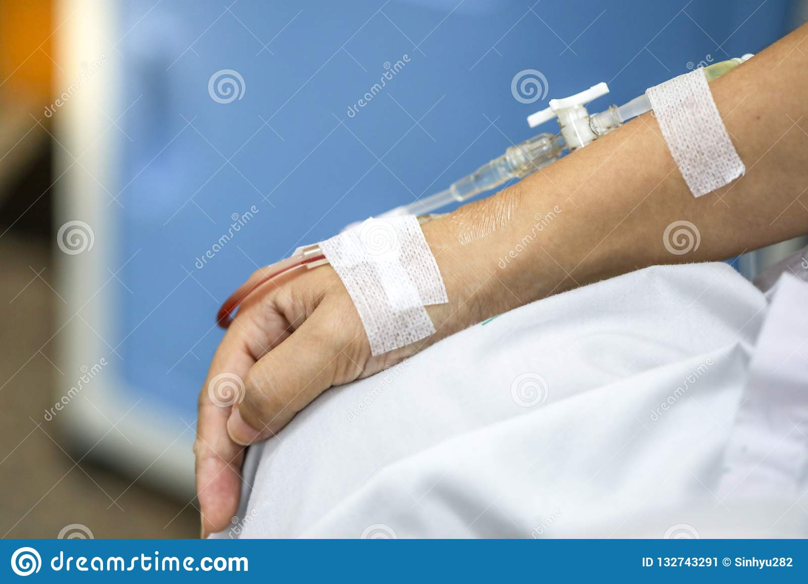 woman Saline injection bondage