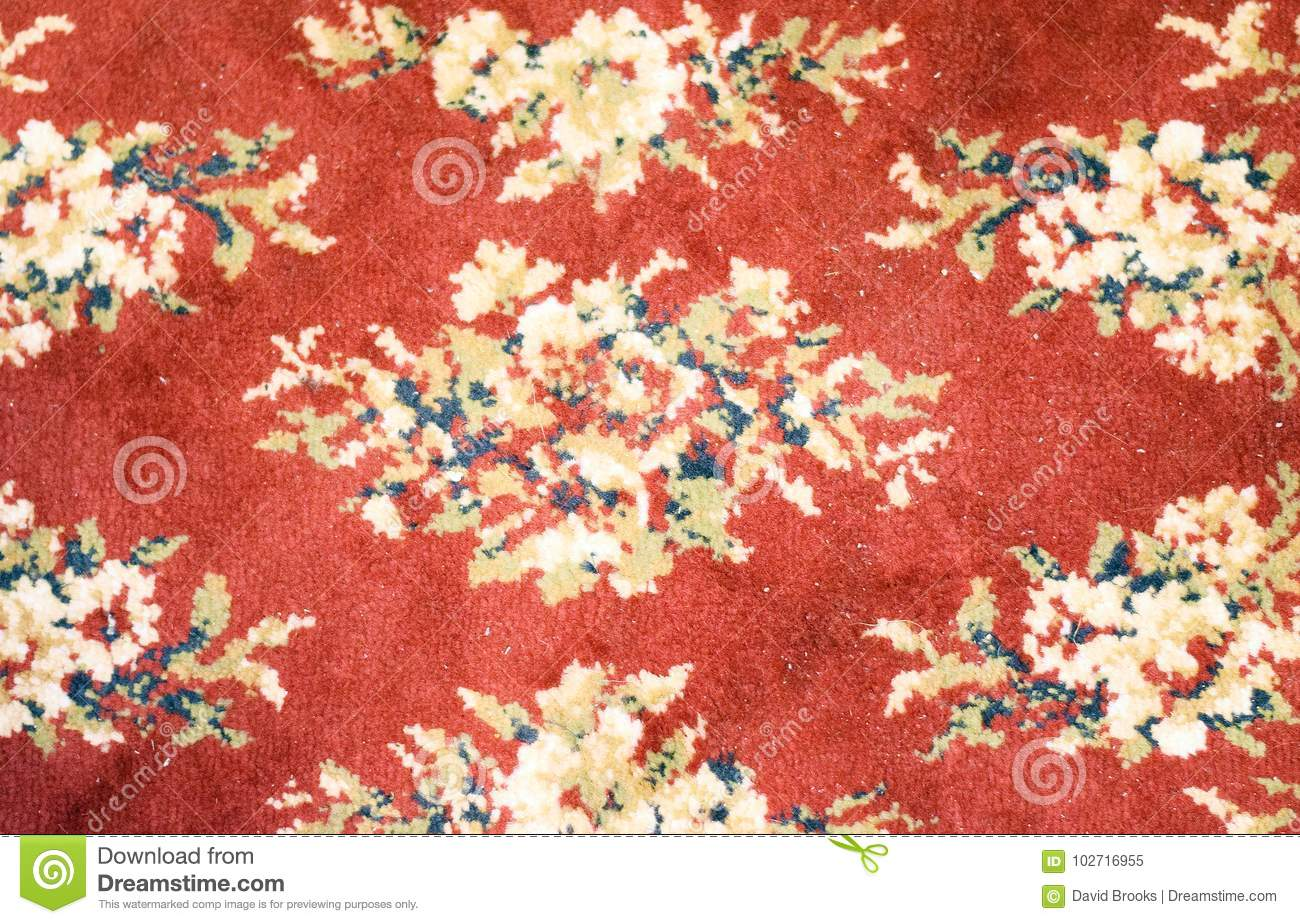 Hand Woven Red And Yellow Area Rug Pattern Stock Image Image Of