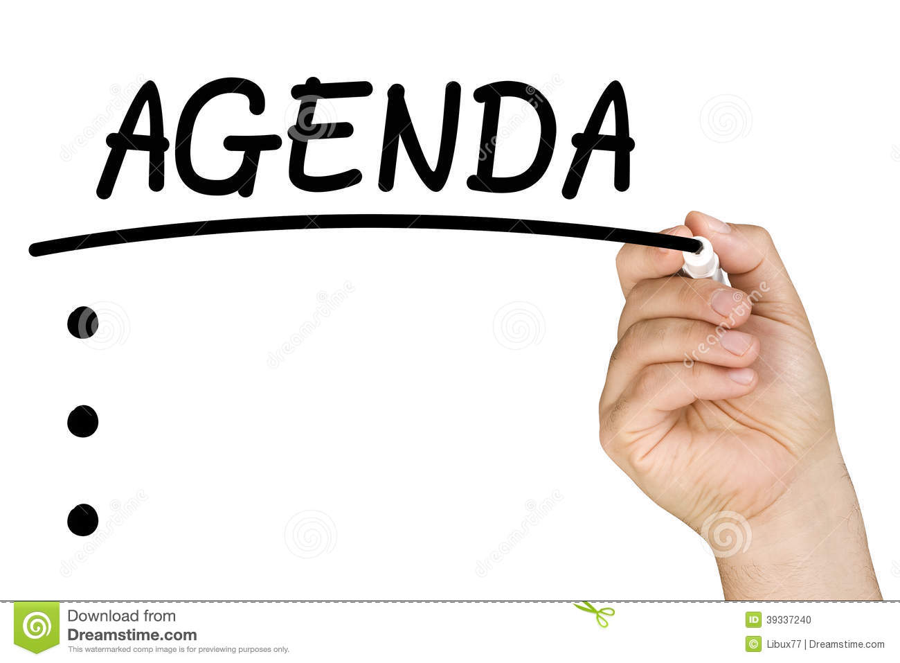 writing an agenda