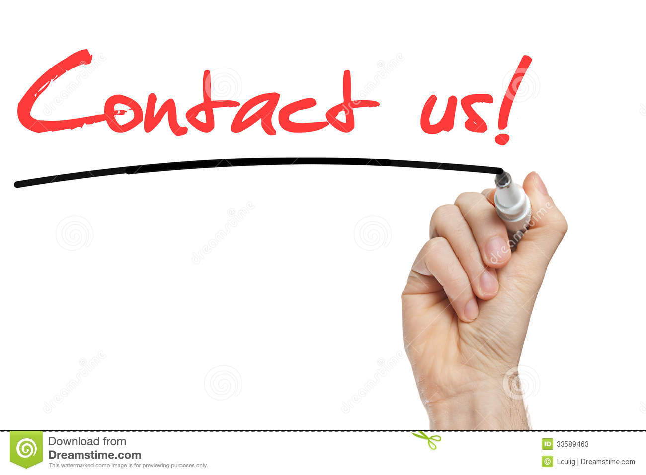Contact Us Red >> Hand Writing Contact Us With Red Marker Stock Photos