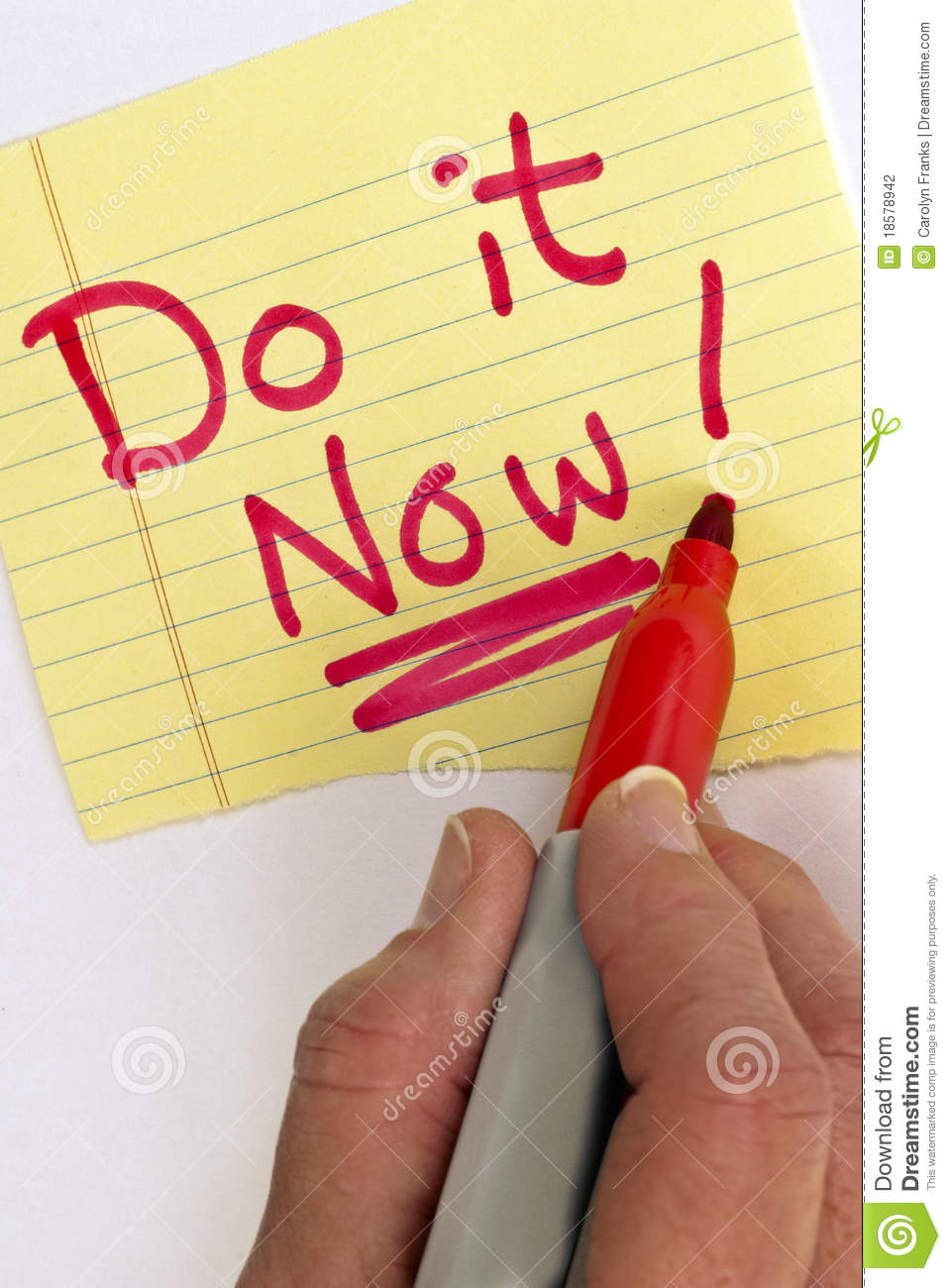 Hand Writing Do it Now
