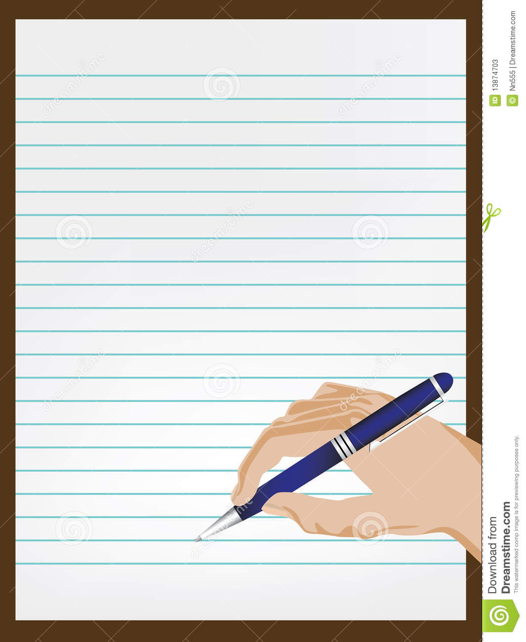 hand writing on paper stock vector. illustration of hold - 13874703