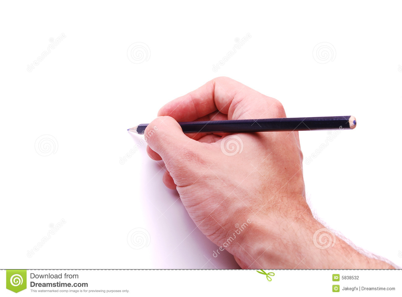 Hand Writing With Pencil Stock Photography - Image: 5838532