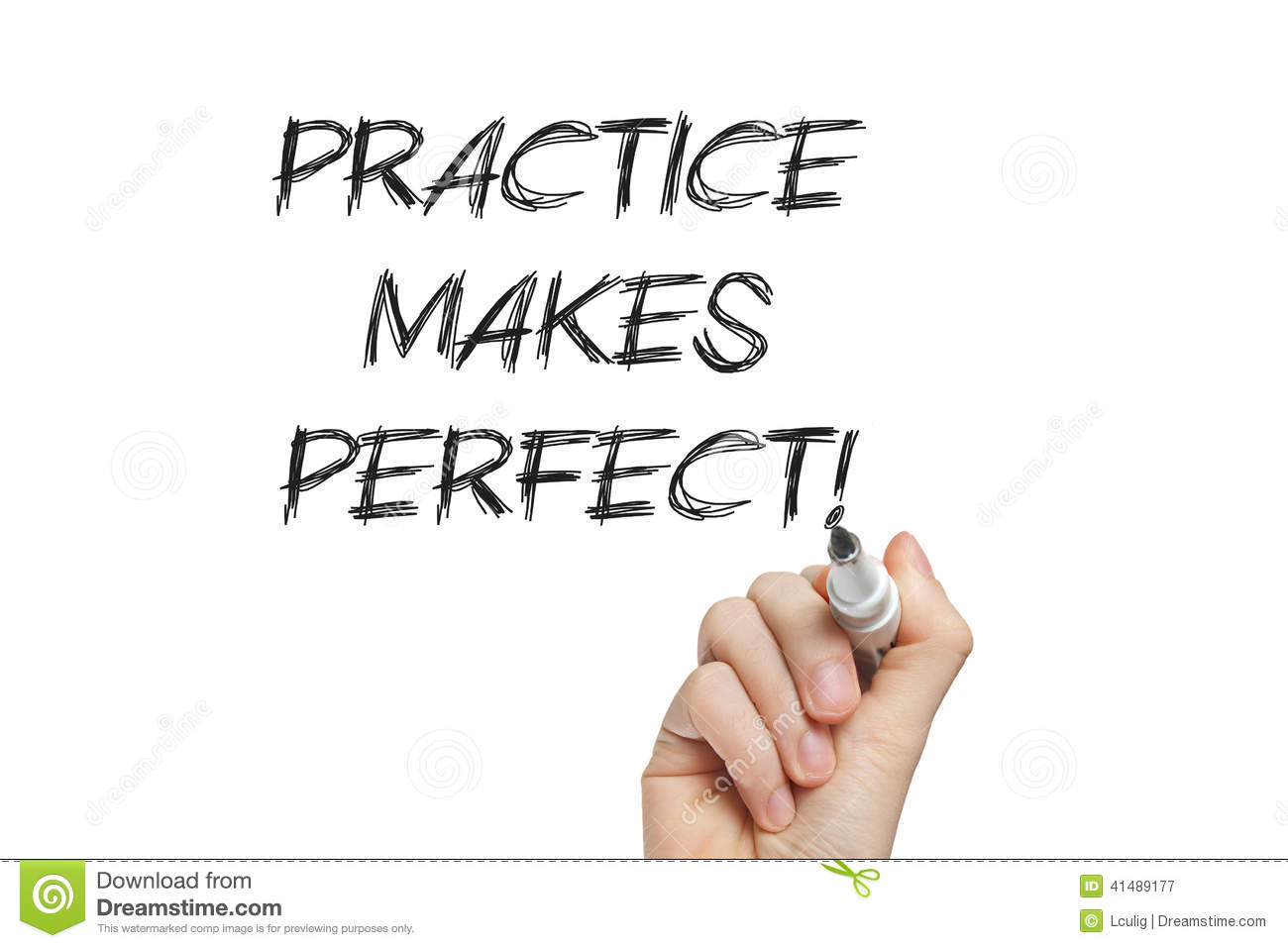 hand writing practice makes perfect stock image image  hand writing practice makes perfect