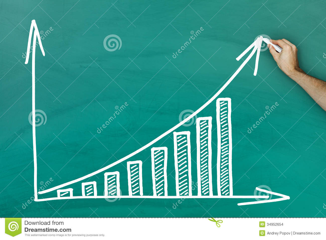 Hand Writing On Profit Growth Chart Blackboard Stock Images ...