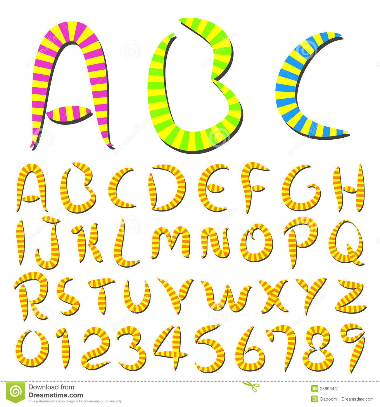 Hand writing stripes font