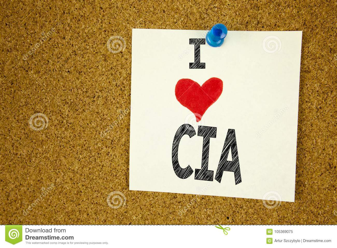 Hand Writing Text Caption Inspiration Showing I Love CIA