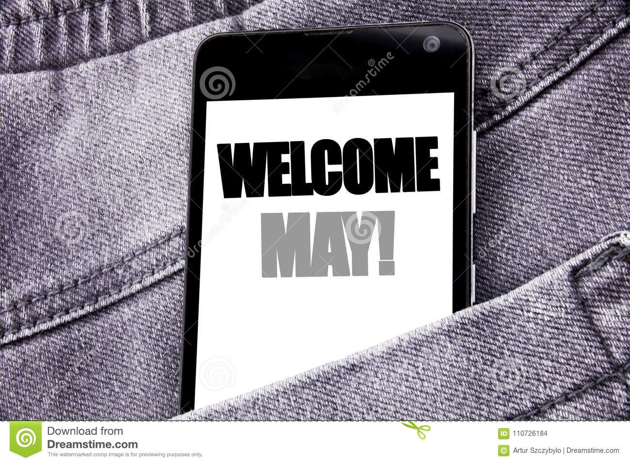 Hand writing text caption inspiration showing welcome may business download hand writing text caption inspiration showing welcome may business concept for hello month greeting m4hsunfo