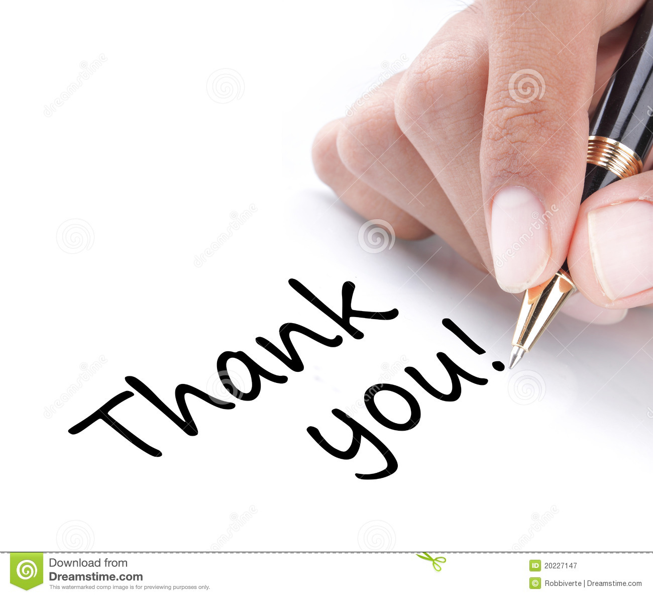 Hand writing thank you stock image image of close Thank you in calligraphy writing