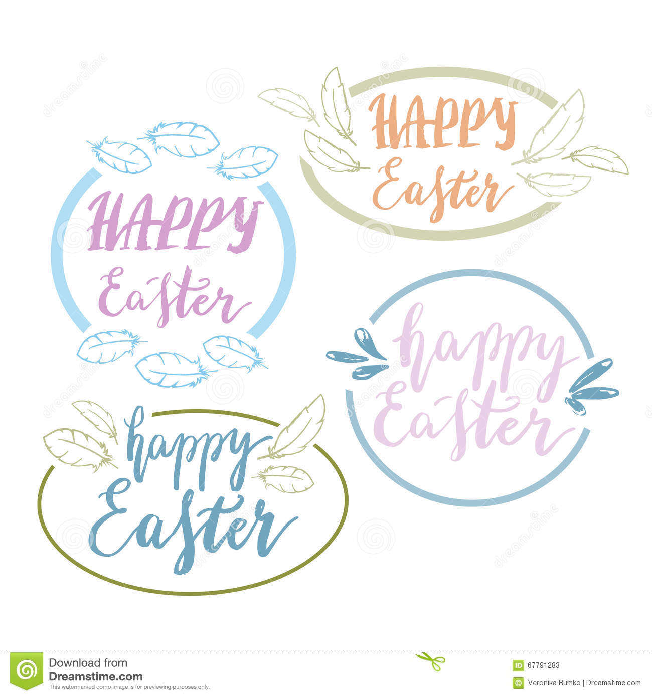 Hand written happy easter phrases eeting card text templates with download hand written happy easter phrases eeting card text templates with design elements stock vector m4hsunfo