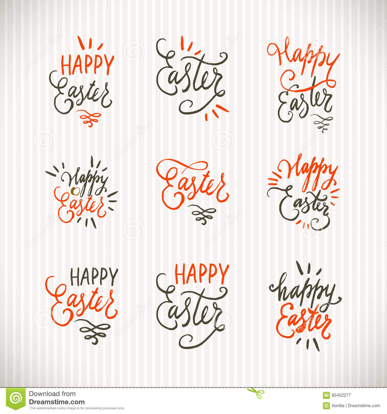 Hand written lettering easter phrases or quotes set greeting card download hand written lettering easter phrases or quotes set greeting card text templates with eggs m4hsunfo