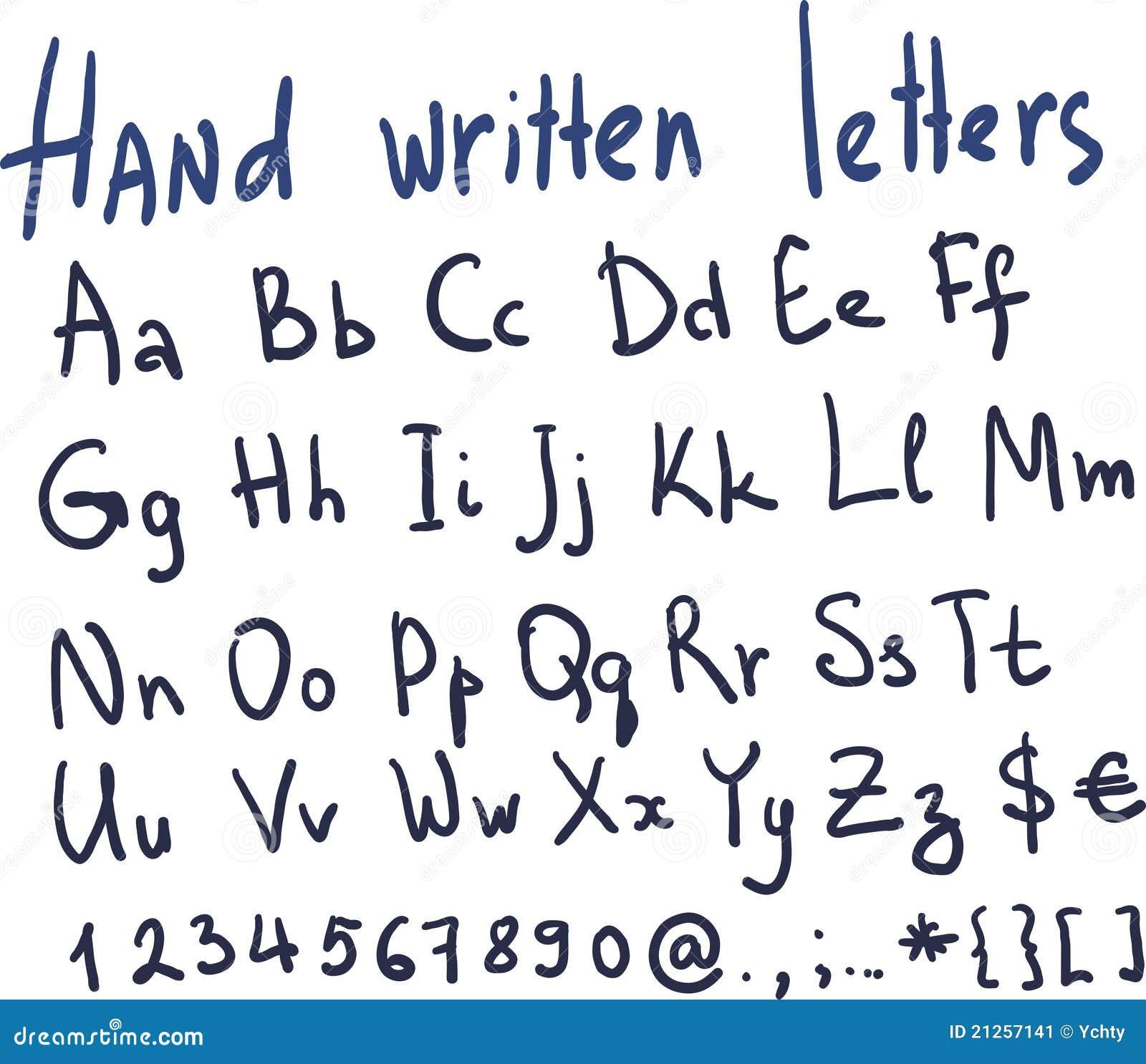 Alphabet Letters Written Childish