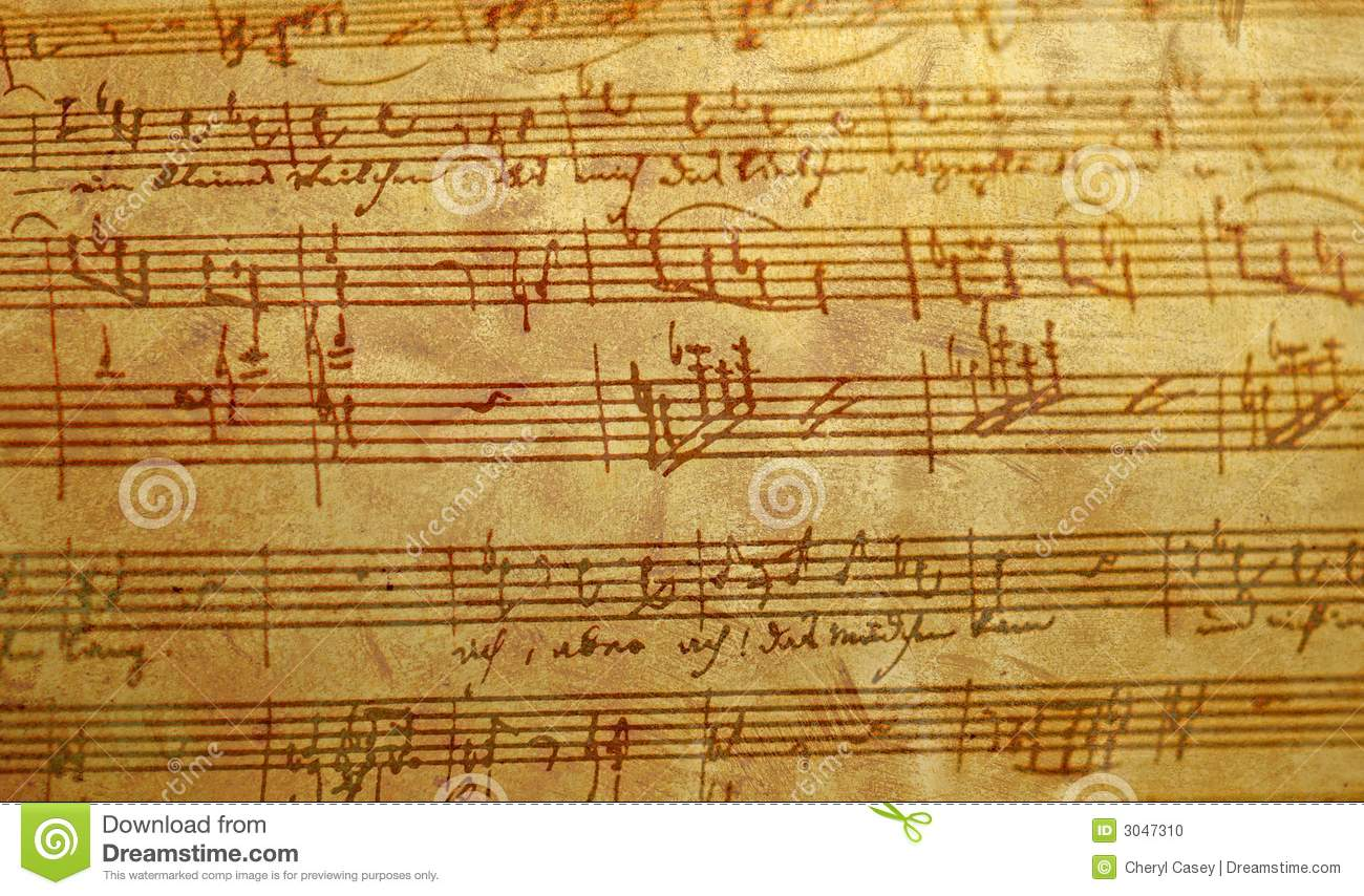 written music hand distressed antiqued finish dreamstime