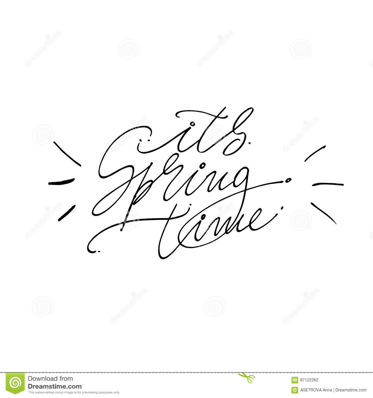Hand written it s spring time phrases eeting card text templates download hand written it s spring time phrases eeting card text templates isolated on m4hsunfo