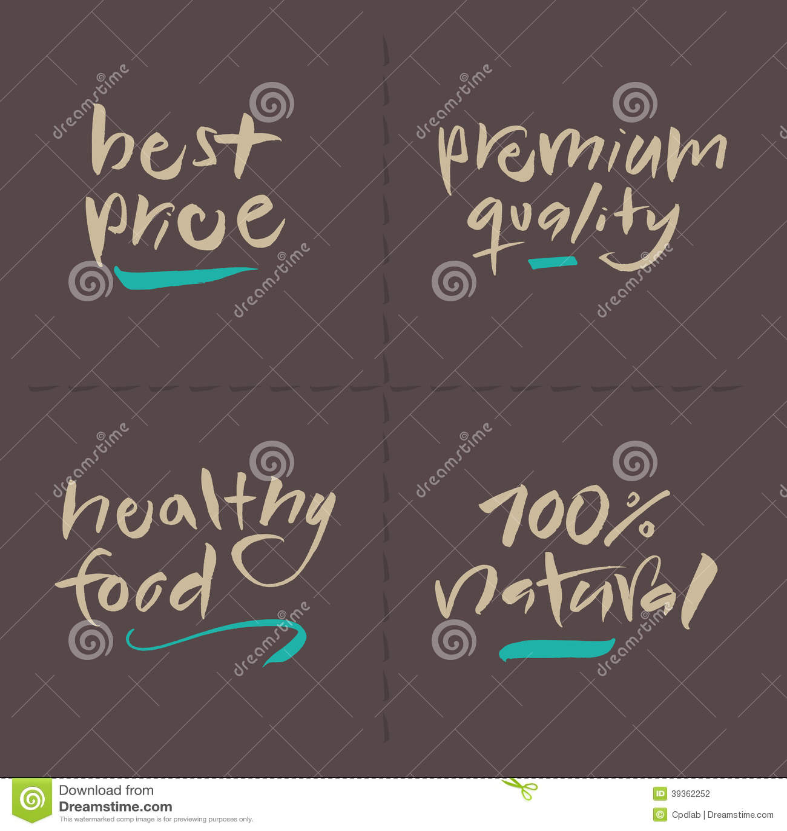 Premium Pricing: Hand Written Vector Food Labels