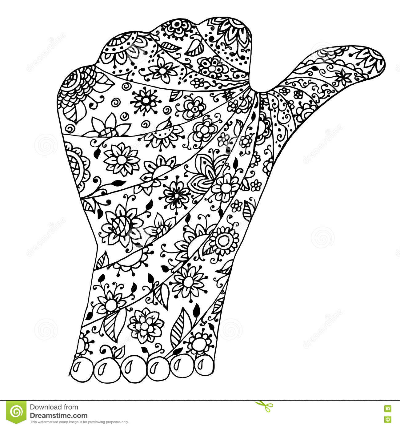 Hand Zentangle And Zendoodle Vector Arm Zenart Finger