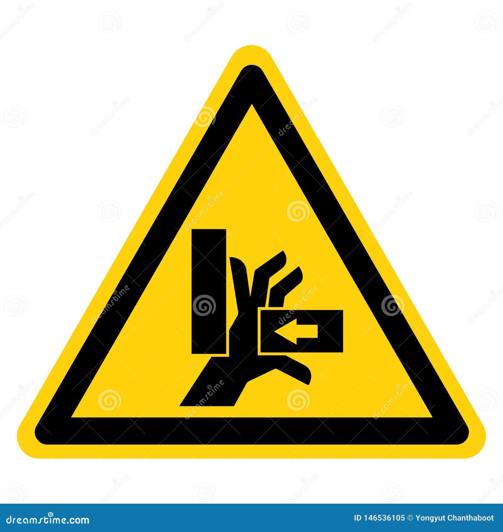 Hand zerquetschen Kraft vom rechten Symbol-Zeichen, Vektor-Illustration, Isolat auf wei?em Hintergrund-Aufkleber EPS10