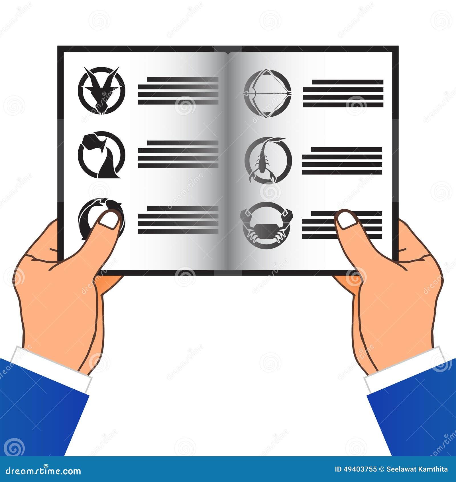 Download Hand Zwei, Die Ein Buch Hält Auch Im Corel Abgehobenen Betrag Vektor Abbildung - Illustration von karikatur, ausbildung: 49403755