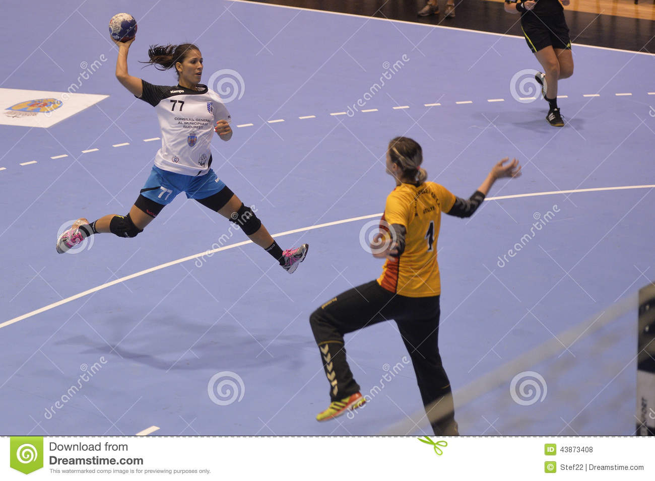handball attack editorial stock photo  image of jumping