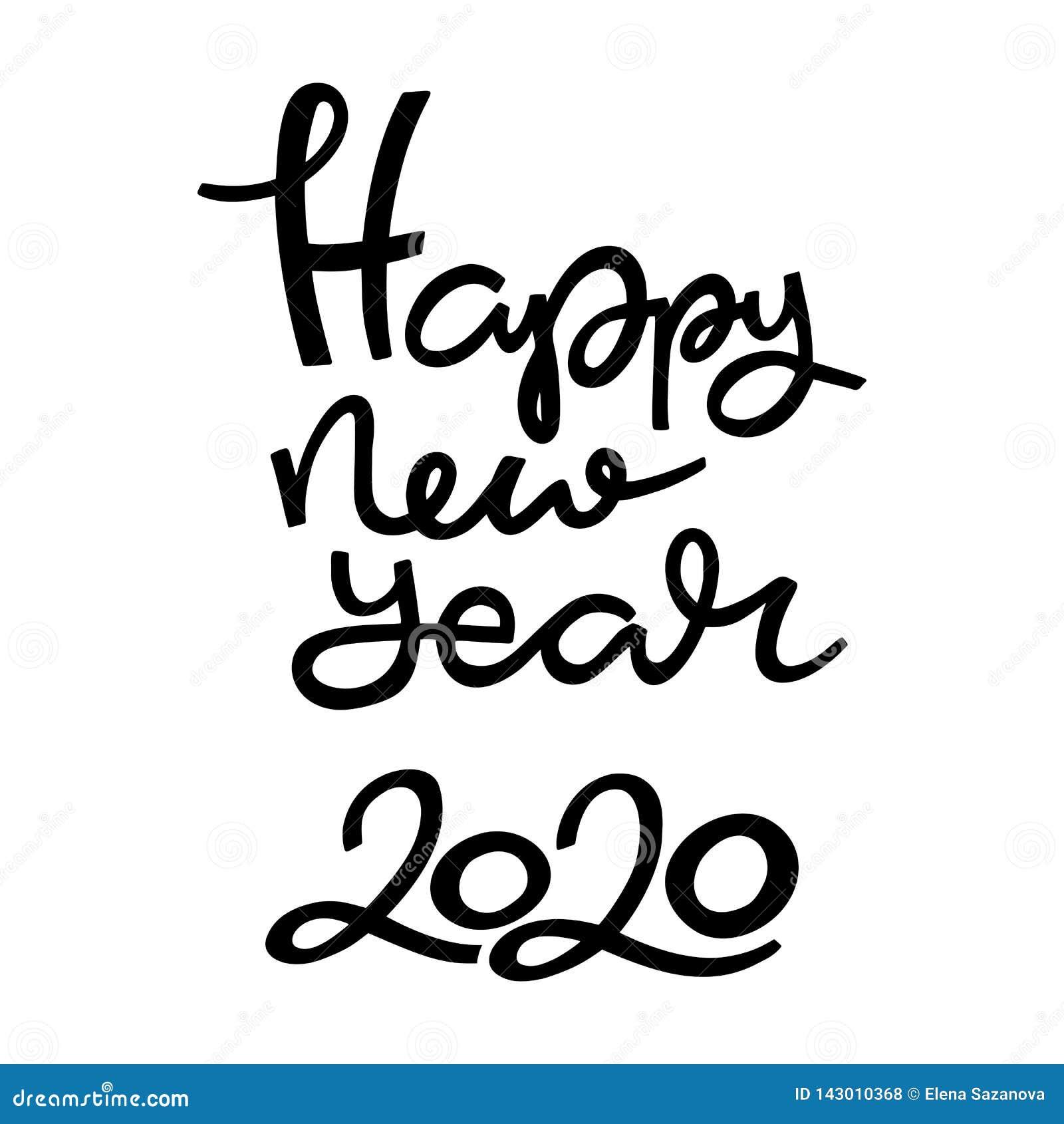 Handbokstäver för nytt år 2020