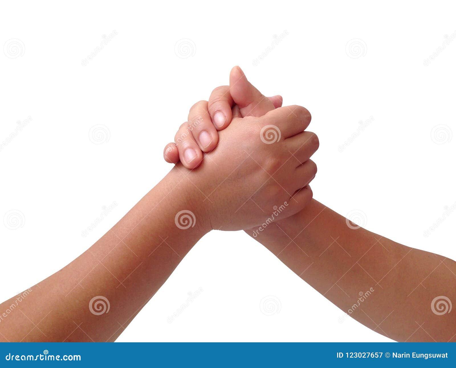 Handcoördinatie van twee personen