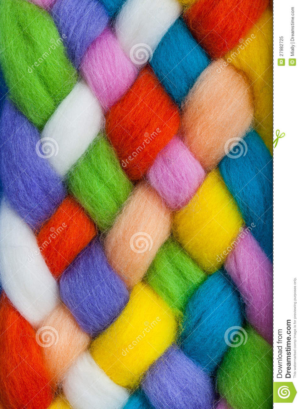 Handcraft Felting Material Stock Image Image Of Natural