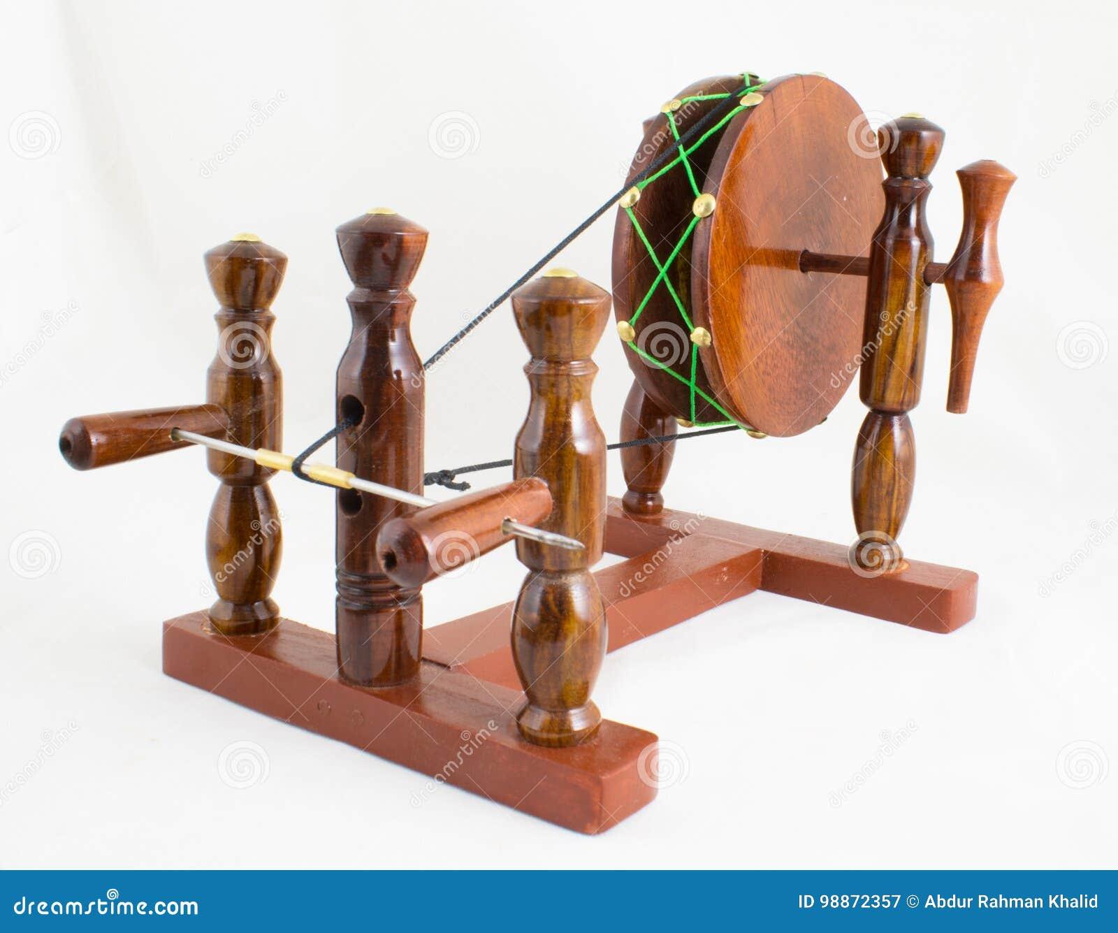 Handcraft la roue de rotation en bois - Indien Charkha
