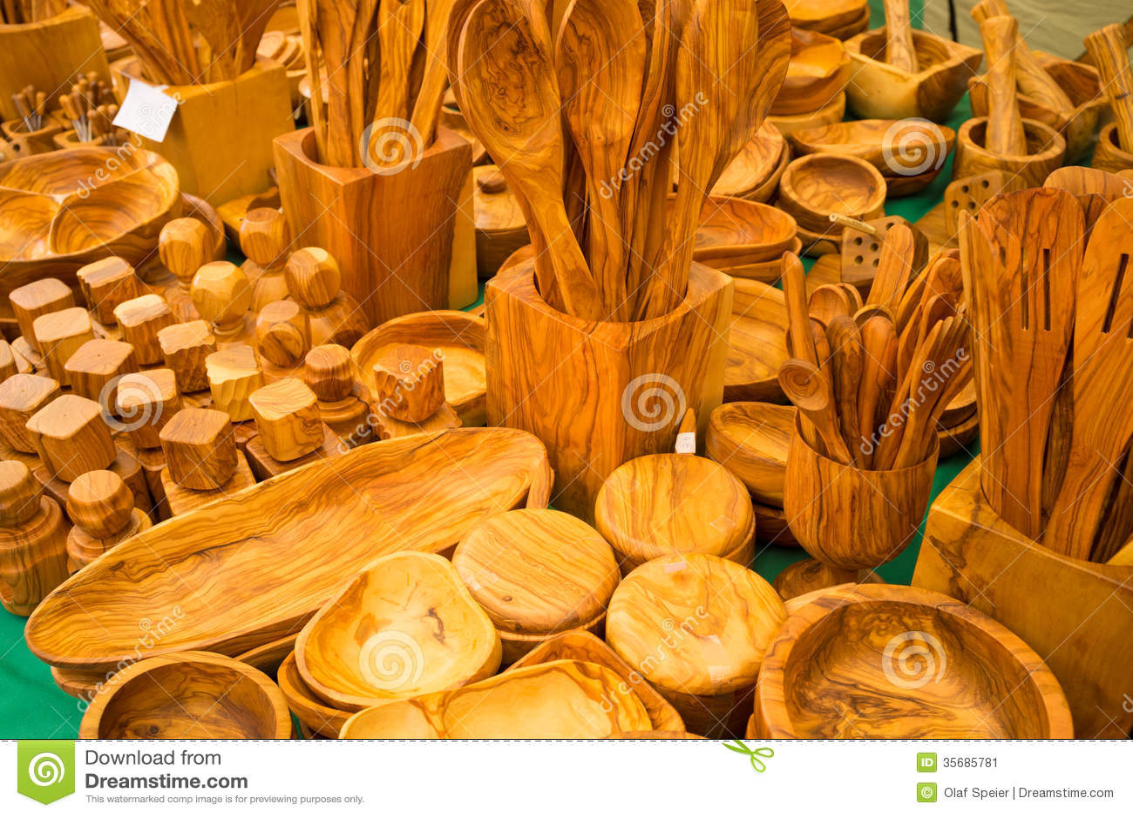 handcrafted kitchen utensils stock image image of handmade