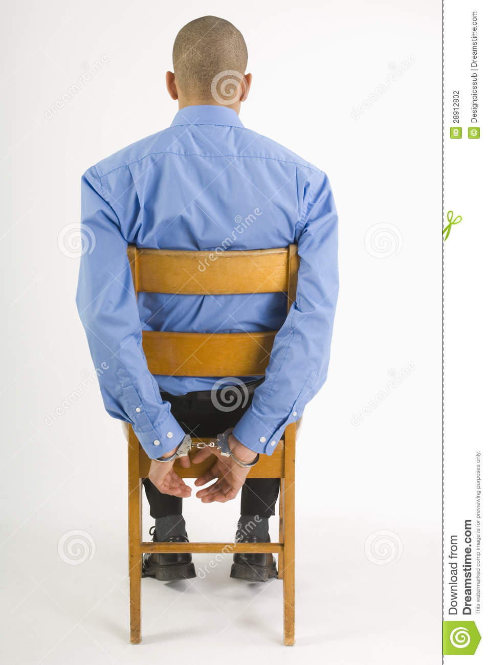 Handcuffed Man Sitting In Chair Stock Photography - Image ...  Handcuffed Man ...