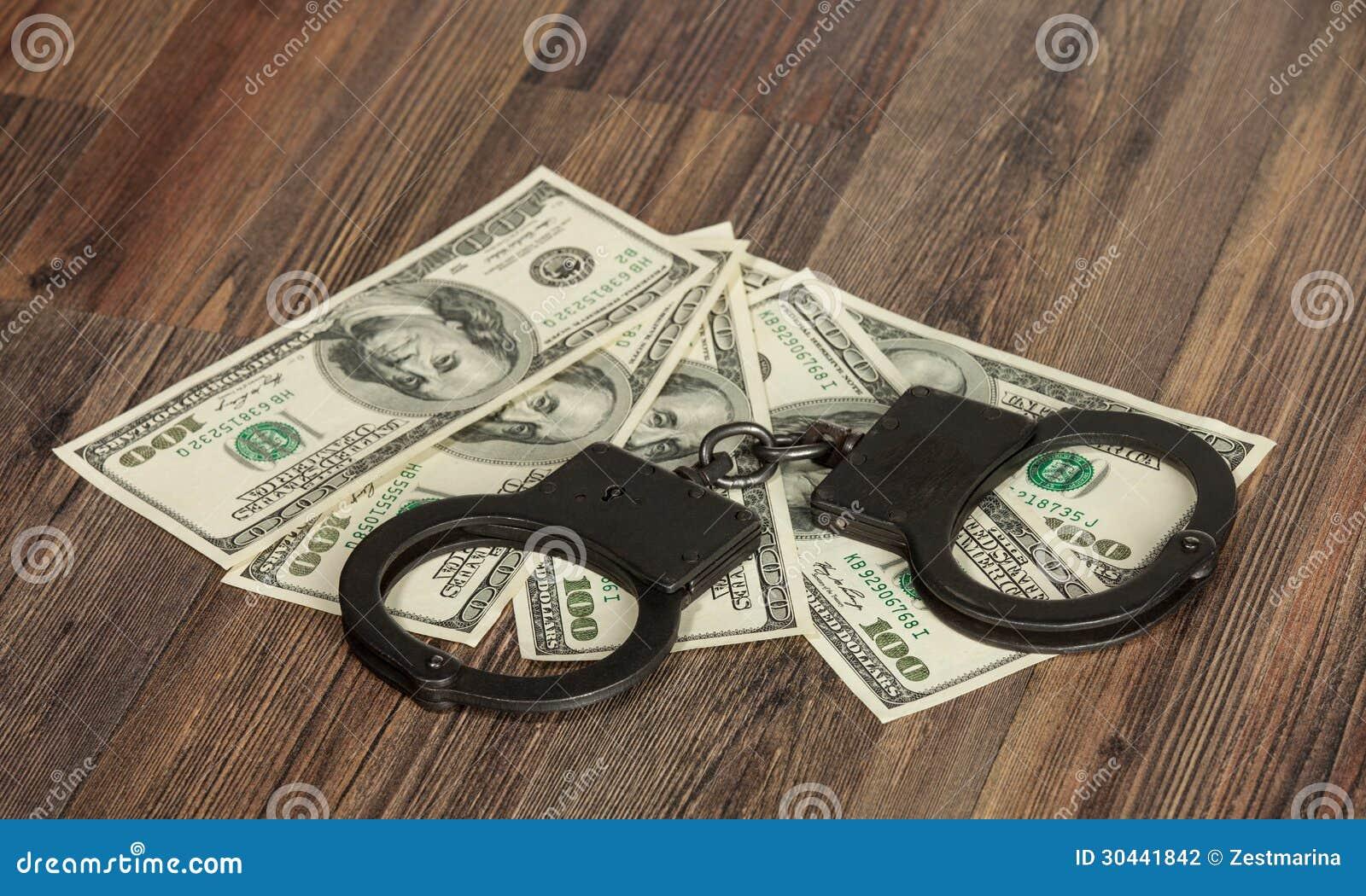 Handcuffs en geld