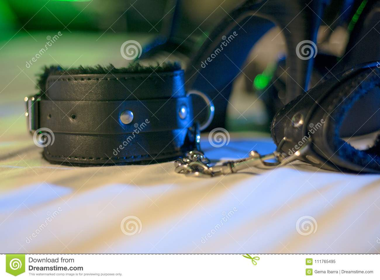 Handcuffs for erotic games. Submission