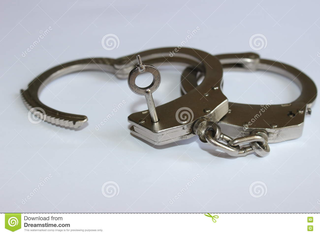 Handcuffs with key