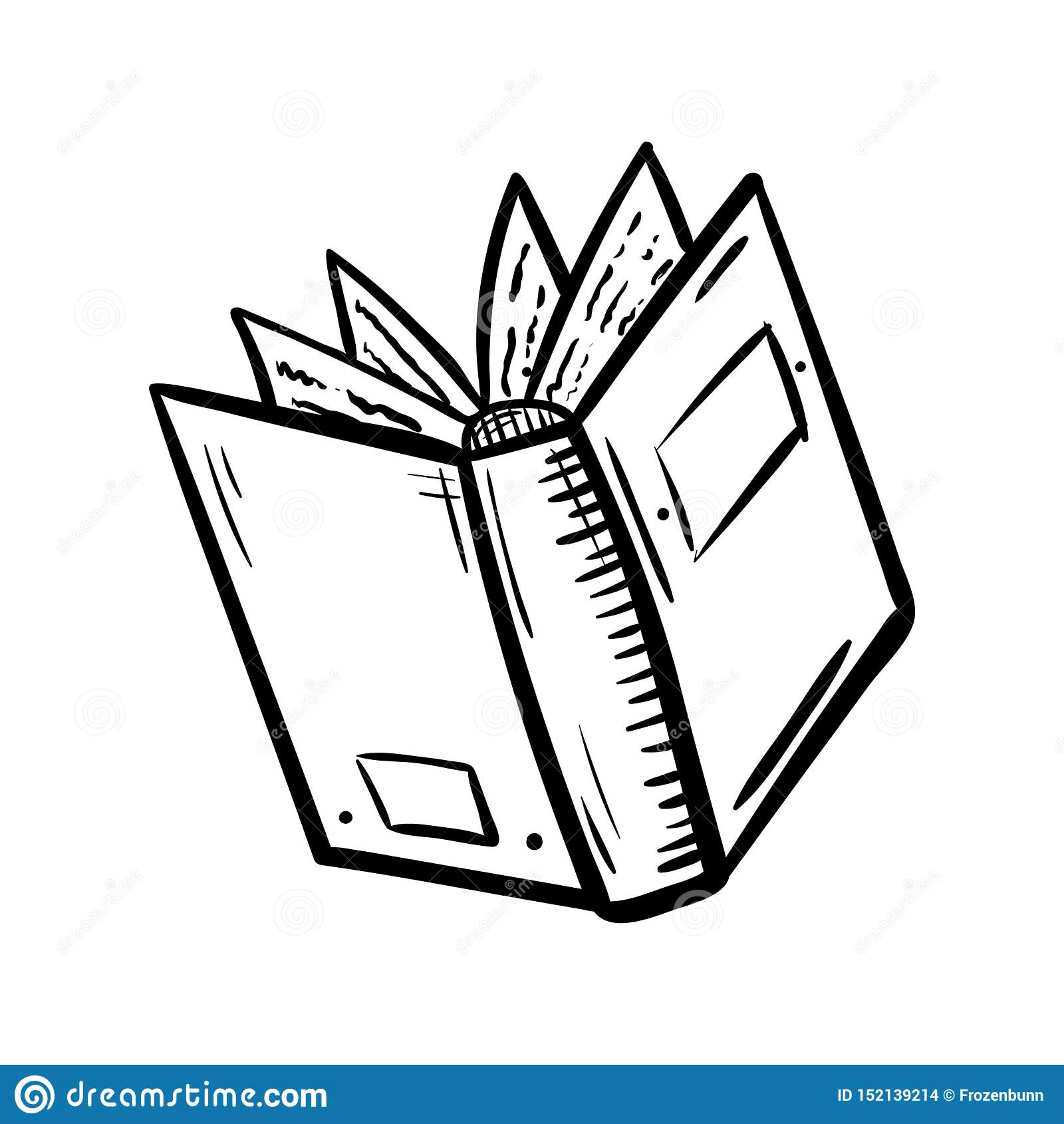 Handdrawn εικονίδιο βιβλίων doodle Συρμένο χέρι μαύρο σκίτσο Σύμβολο σημαδιών Στοιχείο διακοσμήσεων E   :